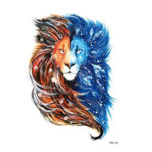 tautajes con leones sol y luna