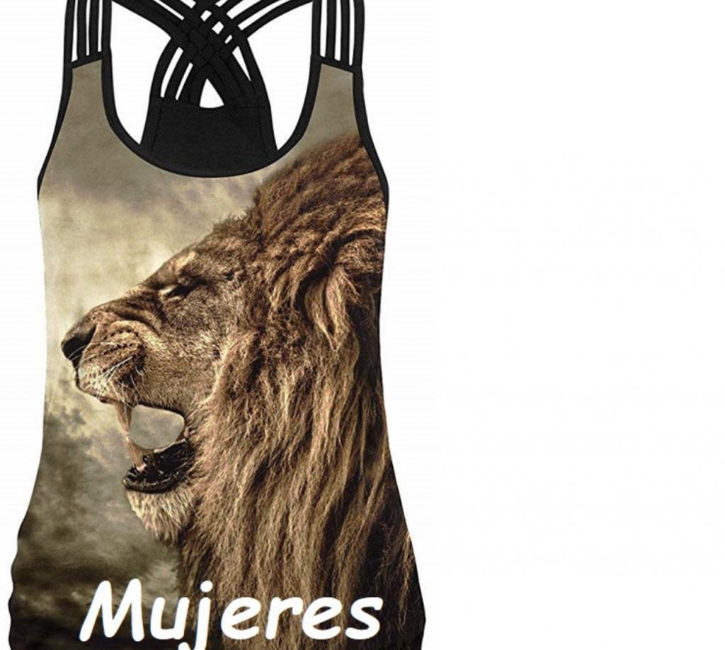 Camisetas con leones mujer