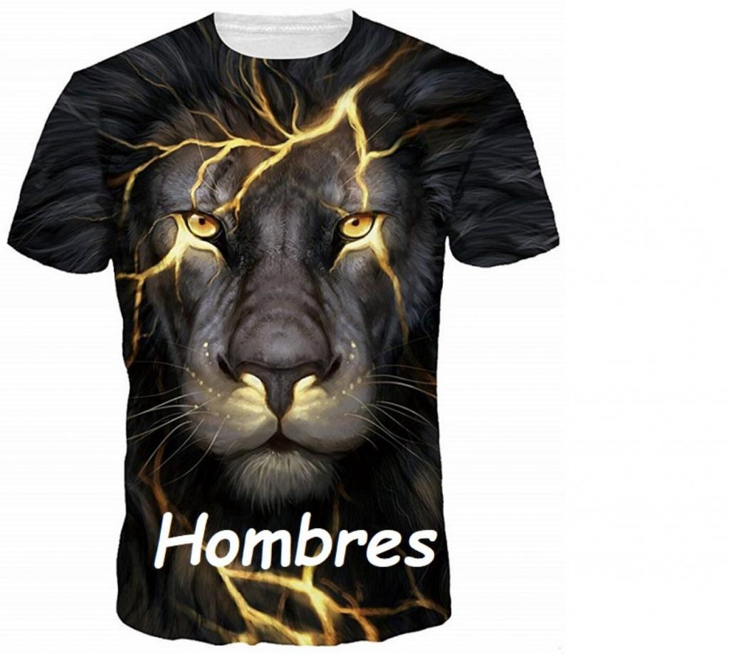 camiseta con leones hombre