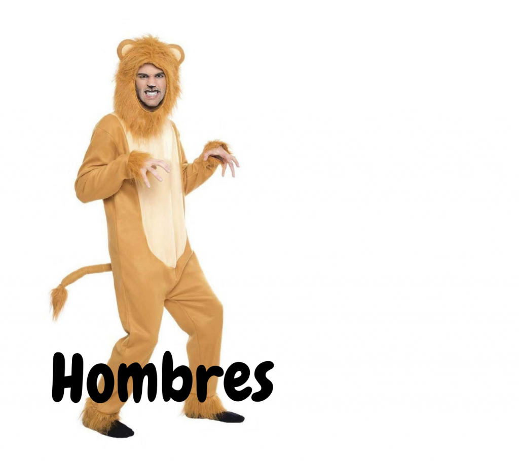 disfraces leones hombres