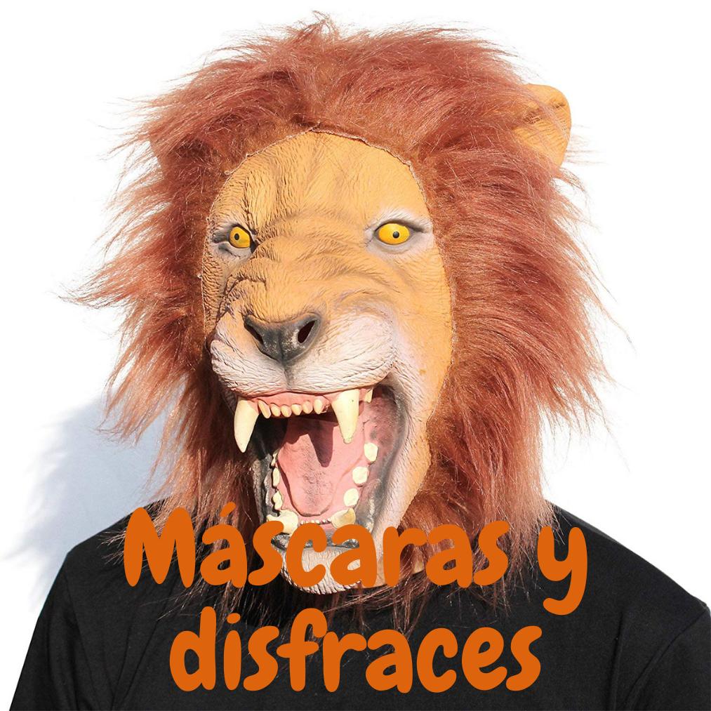 disfraces y mascaras con leones